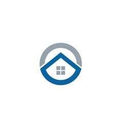 home letter o logo icon design vector image