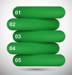 Infographics green paper design vector