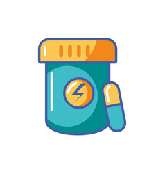 Isolated energetic supplement fill design vector