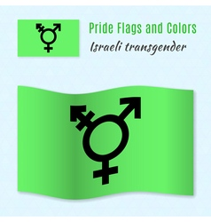 Israeli transgender and genderqueer pride flag vector