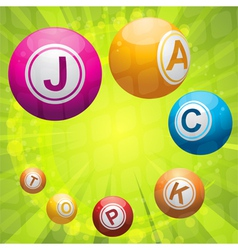 lottery or bingo balls forming the word jackpot vector image