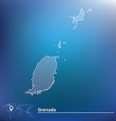 Map of Grenada vector