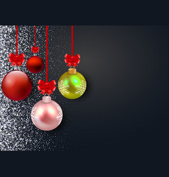 merry christmas background with glossy vector image
