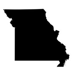 missouri mo state border usa map solid vector image