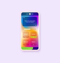 Mobile app question and answers modern gradient vector