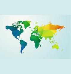 modern map of world color geometric shape vector image