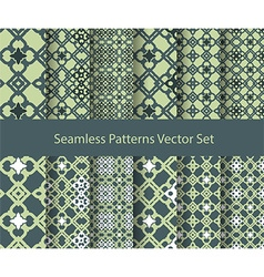 Oriental seamless patterns vector