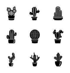 Peyote icons set simple style vector