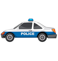 Police car on white background vector