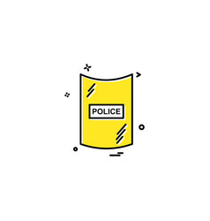 protection safety security shield icon design vector image