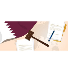 Qatar law constitution legal judgment justice vector