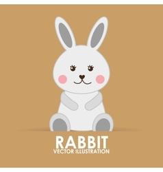 rabbit cute vector image