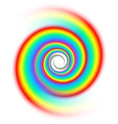 Rainbow spiral spectrum vector image