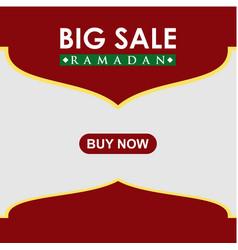 Ramadan big sale buy now template design vector