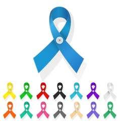 ribbon awareness vector image