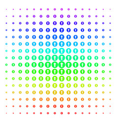 Rounded arrow icon halftone spectral pattern vector