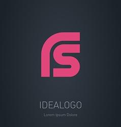 Rs initial logo initial monogram logotype vector