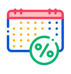 salary calendar schedule icon outline vector image