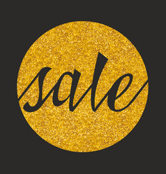 sale sign on golden background vector image