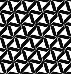 Seamless monochromatic geometric pattern vector image