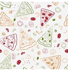Seamless texture of image slices of pizza vector image