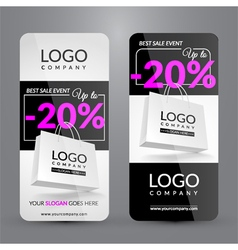 Set with banners for Big sale event vector image