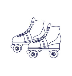 Skate rollers ninetys icon vector