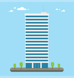 Skyscraper business company building in flat style vector