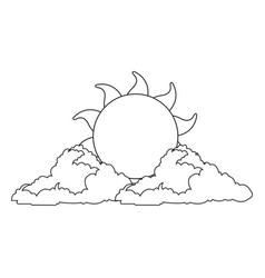 Sun summer weather heat icon vector