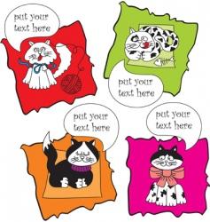 talking cats vector image