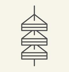 Tapas thin line icon canape vector