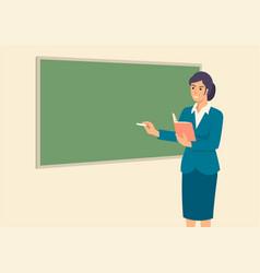 teacher teaching in front class room vector image