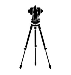 Theodolite icon simple style vector