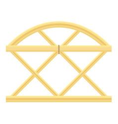 trellis fence icon cartoon style vector image