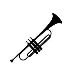 Trumpet simple black icon vector image