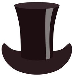 Vintage cylinder hat for gentleman flat vector