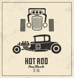 Vintage hot rod vector