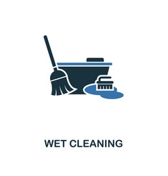 wet cleaning icon creative two colors design from vector image