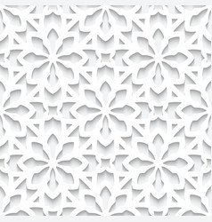 White lace pattern cutout paper seamless texture vector