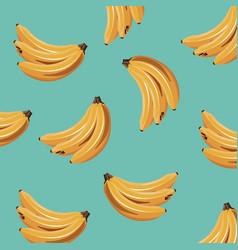 banana fruit fresh seamless pattern design vector image vector image