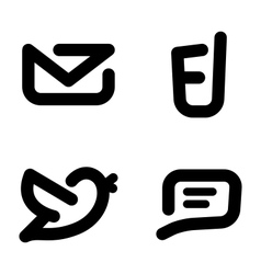 Minimalistic contact icons vector image