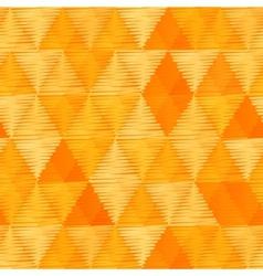 Orange vintage textile triangles seamless pattern vector image vector image