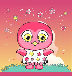owl in a dress vector image vector image