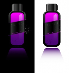 perfume bottle with deodorant vector image