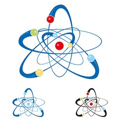 atom symbol set isolated vector image