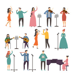 concert and music groups vocal duets musician vector image