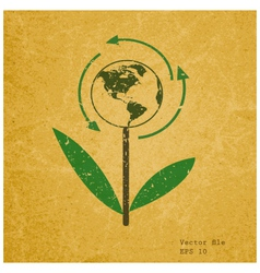 Eco sign on recycled paper vector image