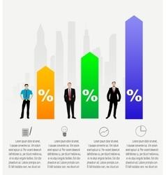 Modern Business infographics vector image