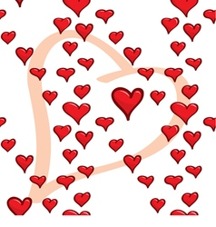Seamless wallpaper A lot of hearts vector image vector image