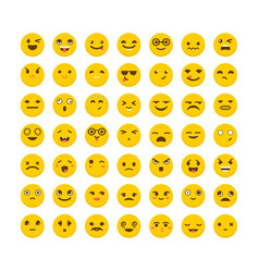 set of emoticons funny cartoon faces avatars vector image vector image